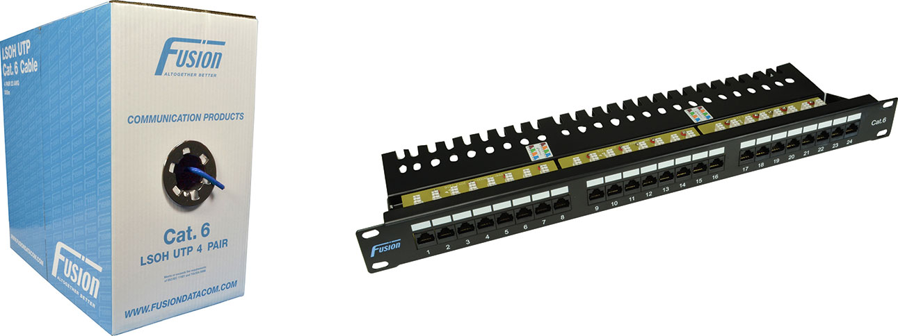Cat 6 Data Cabling & Patch Panel